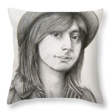 Steve Perry Throw Pillow by Patrice Torrillo