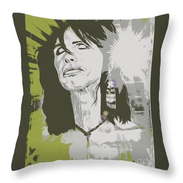 Steven Tyler  Throw Pillow by Jeepee Aero