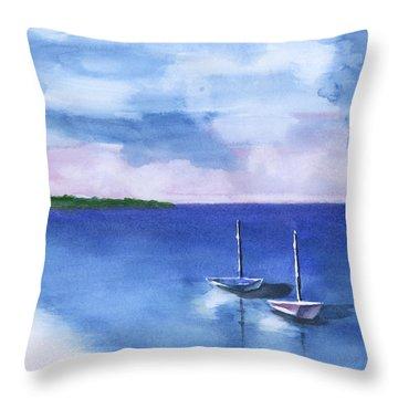 2 Still Boats Throw Pillow
