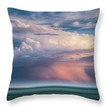 Storm On The Sound Throw Pillow