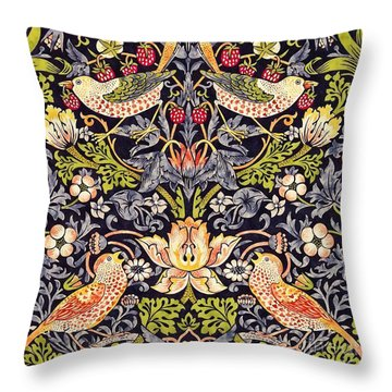 Strawberry Thief Throw Pillow