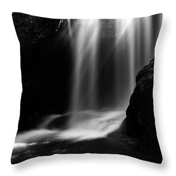 Sum Waterfall In Vintgar Gorge Throw Pillow