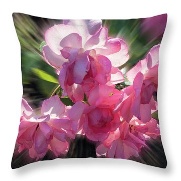 Throw Pillow featuring the photograph Summer Flowers by Vladimir Kholostykh