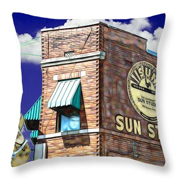 Sun Studio Collection Throw Pillow by Marvin Blaine