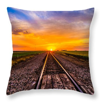 Sun Tracks Throw Pillow