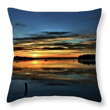 Sunrise Onset Pier Throw Pillow