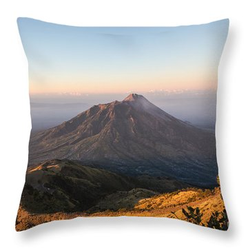 Sunrise Over Java In Indonesia Throw Pillow