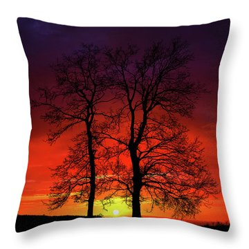 Throw Pillow featuring the photograph Sunset by Bess Hamiti