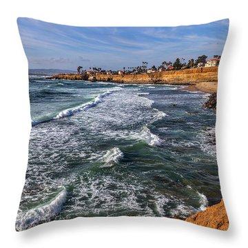Sunset Cliffs 2 Throw Pillow