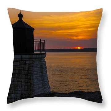 Sunset From Castle Hill Lighthouse. Throw Pillow