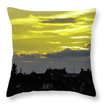 Sunset In Koln Throw Pillow by Cesar Vieira