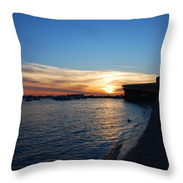 Throw Pillow featuring the photograph 2- Sunset In Paradise by Joseph Keane
