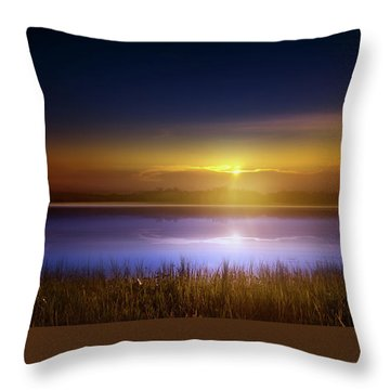 Sunset In The Glades Throw Pillow by Mark Andrew Thomas