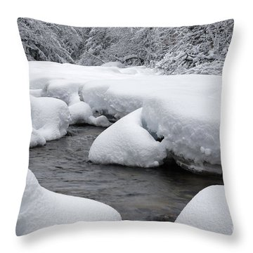 Swift River - White Mountains New Hampshire Usa Throw Pillow by Erin Paul Donovan