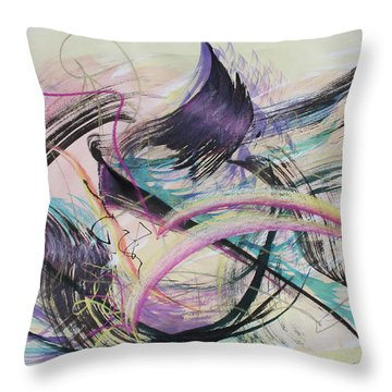 Taking Flight Throw Pillow by Asha Carolyn Young