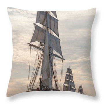 Parade Of Ships Throw Pillow