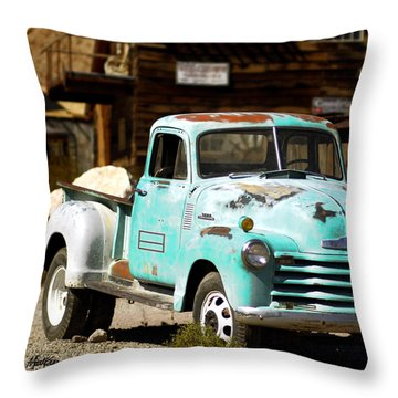 Techatticup Mine Ghost Town Nv Throw Pillow by Marti Green