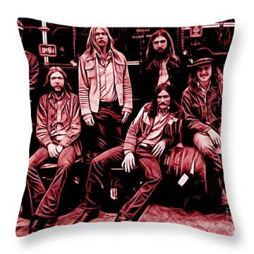 The Allman Brothers Collection Throw Pillow