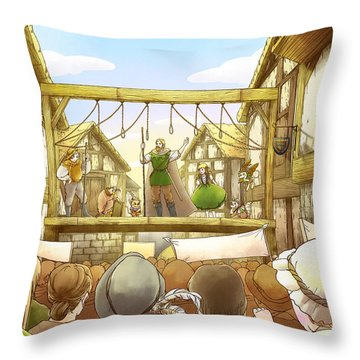 The Army Of God Captures London Throw Pillow