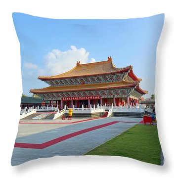The Confucius Temple In Kaohsiung, Taiwan Throw Pillow