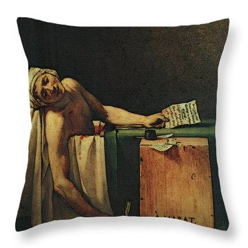 The Death Of Marat  Throw Pillow