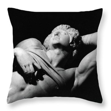 The Dying Slave Throw Pillow by Michelangelo Buonarroti