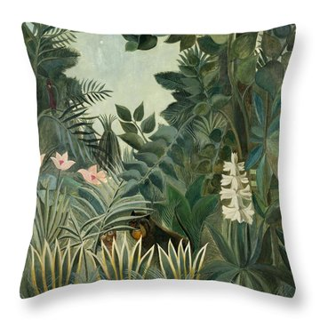 The Equatorial Jungle Throw Pillow