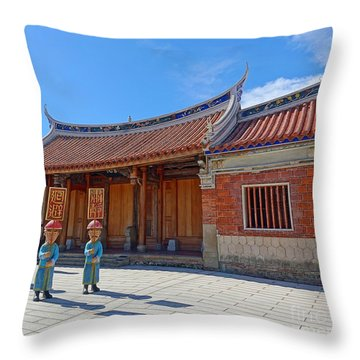 Throw Pillow featuring the photograph The Fongyi Imperial Academy In Taiwan by Yali Shi
