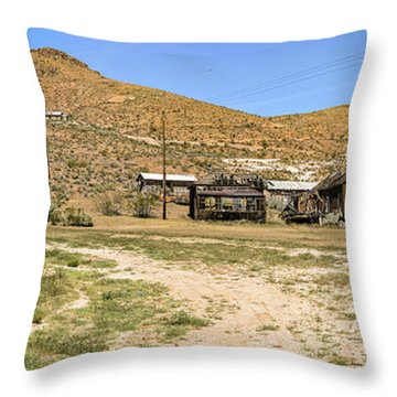 The Ghost Town Throw Pillow