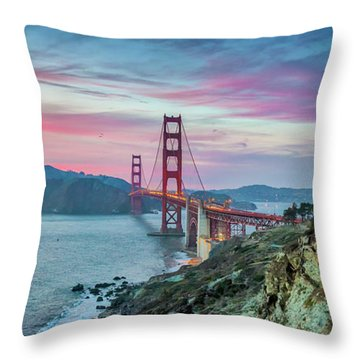 The Golden Gate Throw Pillow by JR Photography
