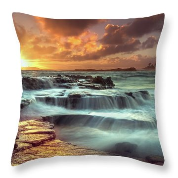 The Golden Hour Throw Pillow by James Roemmling