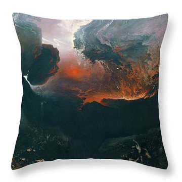 The Great Day Of His Wrath Throw Pillow
