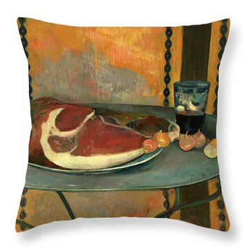 The Ham Throw Pillow