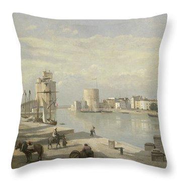 The Harbor Of La Rochelle Throw Pillow