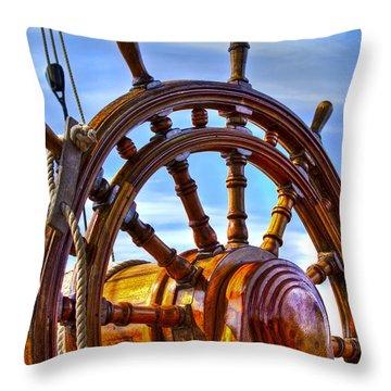 The Helm Throw Pillow by Debra and Dave Vanderlaan
