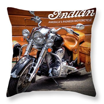 The Indian Motorcycle Throw Pillow