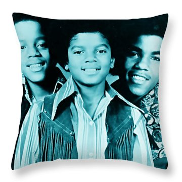 The Jackson 5 Collection Throw Pillow by Marvin Blaine