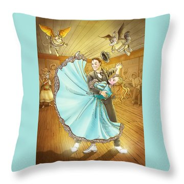 The Magic Dancing Shoes Throw Pillow