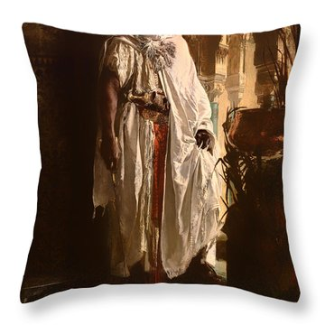 The Moorish Chief Throw Pillow
