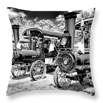 Throw Pillow featuring the photograph The Old Way Of Farming by Paul W Faust - Impressions of Light