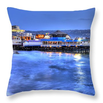 Redondo Landing At Night Throw Pillow