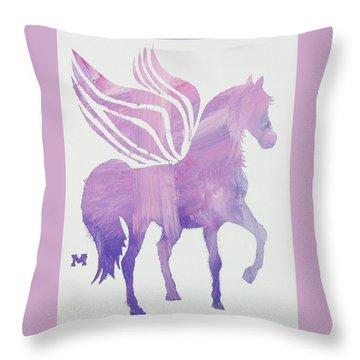 The Pink Pegasus Throw Pillow