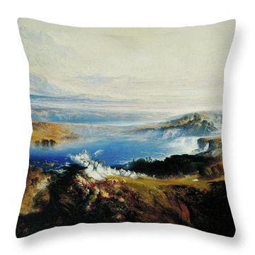 The Plains Of Heaven Throw Pillow