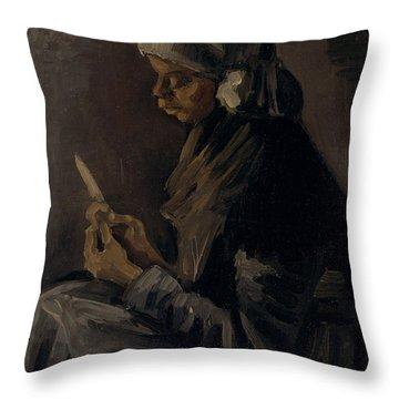 The Potato Peeler, 1885 Throw Pillow by Vincent Van Gogh