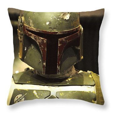 The Real Boba Fett Throw Pillow by Micah May