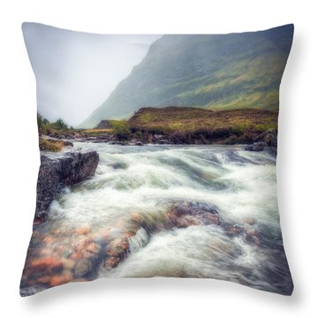 The River Coe Throw Pillow by Ray Devlin