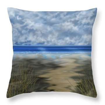 The Road Less Travelled Throw Pillow by Anne Norskog