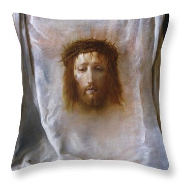 The Veil Of Veronica Throw Pillow