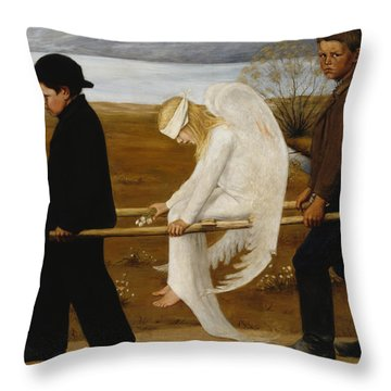The Wounded Angel Throw Pillow