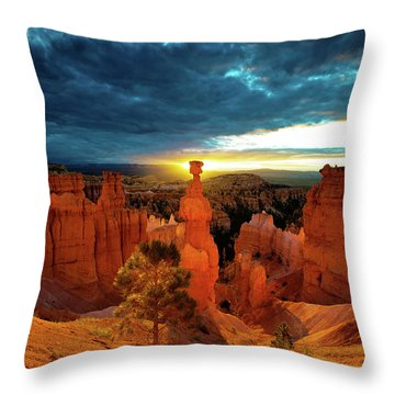 Throw Pillow featuring the photograph Thor's Hammer by Norman Hall